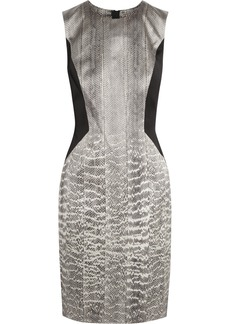 Jason Wu Snake-print silk-satin dress