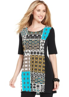 Style&co. Petite Patchwork-Print Tunic