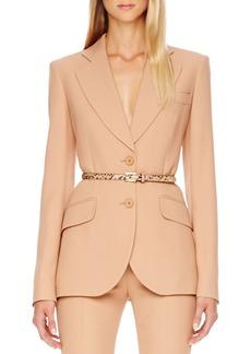 Michael Kors Two-Button Crepe Blazer