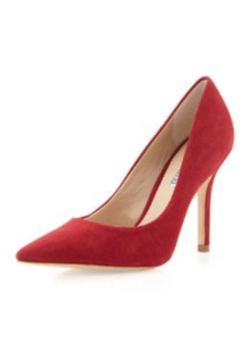 Charles David Sway II Pointy Suede Pump, Ruby