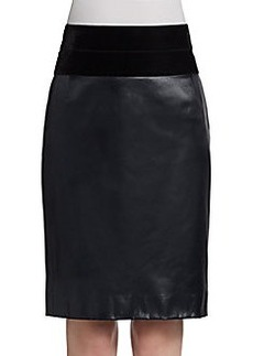 Akris Punto Velvet-Waist Skirt
