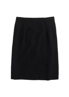 Drapey crepe pencil skirt