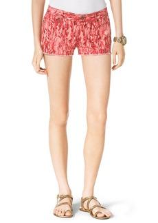 MICHAEL Michael Kors Pigment-Print Cutoff Shorts