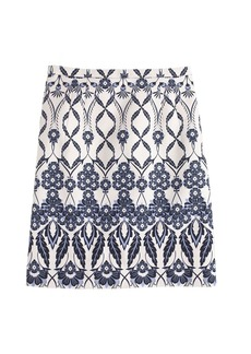Trellis floral skirt