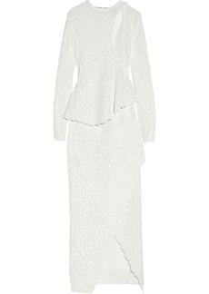 Proenza Schouler Appliquéd lace gown