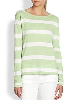 Joie Kelia Cotton, Silk & Cashmere Striped Sweater