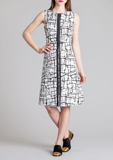 Marni Cracked Ice Printed A-Line Dress