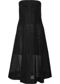 Stella McCartney Strapless embroidered organza dress