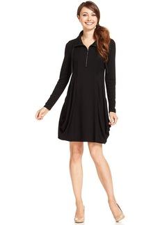 kensie Dress, Long-Sleeve A-Line