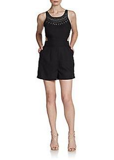 Saks Fifth Avenue RED Embellished Cutout Short Jumpsuit