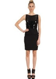 Elie Tahari Jayden Sequin Peplum Dress