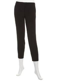 Isaac Mizrahi Cropped Ankle Pants, Black