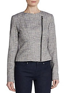 Tahari Seamed Tweed Jacket