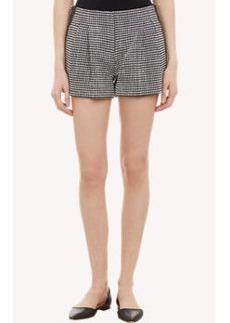 Proenza Schouler Tweed Pleated Shorts