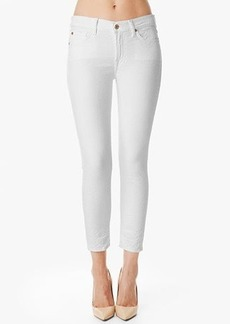 """The Pieced Cropped Skinny in White Royal Jacquard (26"""" Inseam)"""