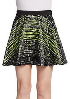 Robert Rodriguez Grid Jacquard Skirt