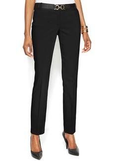 Alfani Petite Slim-Leg Belted Pants