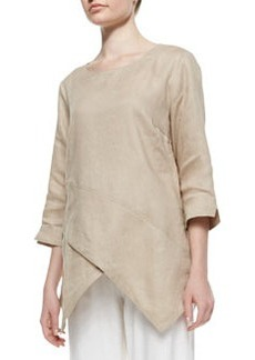 Go Silk Linen Asymmetric Long Tunic, Women's