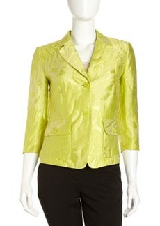 Lafayette 148 New York Sally Palm-Leaf-Jacquard Jacket