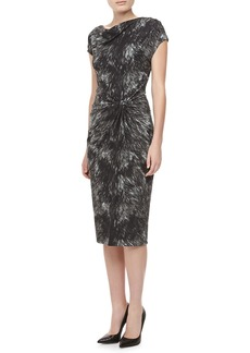 Michael Kors Fox-Print Jersey Dress