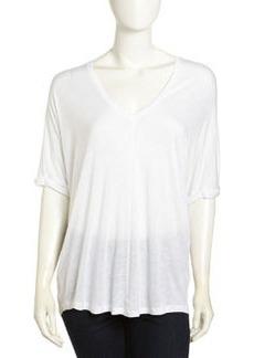Paper Denim & Cloth Varic V-Neck Oversized Tee, White