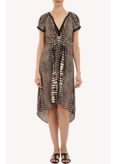 Twelfth Street by Cynthia Vincent Python-print High-low Dress