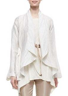 Lafayette 148 New York Lazzar Linen-Blend Topper Jacket