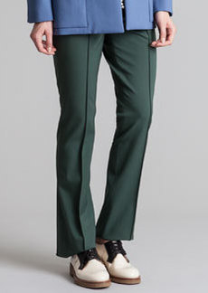 Marni Twisted Wool Trouser Pants, Juniper