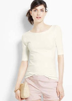 Petite Tie Back Short Sleeve Sweater