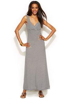INC International Concepts Petite Sleeveless Striped Maxi Dress