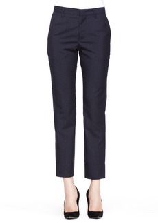 Jil Sander Ronny Cropped Pinstripe Trousers