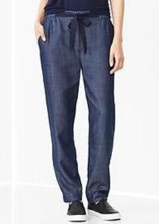 Drapey Tencel&#174 indigo pants