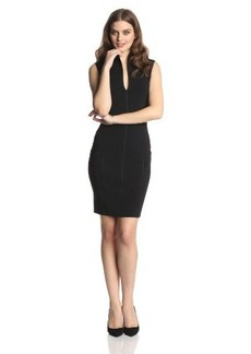 Catherine Malandrino Women's Dahlia Sleeveless Fitted High Collar Dress