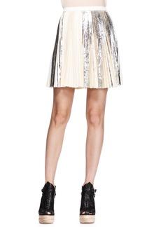 Proenza Schouler Pleated Foil Short Skirt