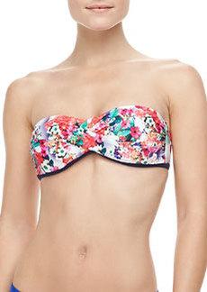 Nanette Lepore Fleur De La Mer Twisted Bandeau Bikini Top