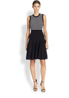 Michael Kors Striped Flare Dress