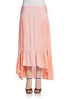 Saks Fifth Avenue BLUE Phoebe Ruffle Hi-Lo Maxi Skirt
