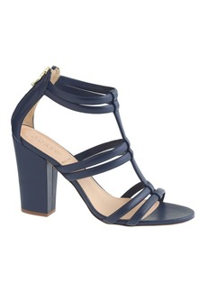Back-zip high-heel sandals