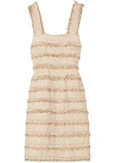 Oscar de la Renta Metallic tweed dress