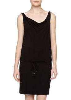 Diane Von Furstenberg Tadd Two Jersey Drawstring Dress, Black