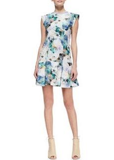 Enchanted Gardens Drop-Waist Floral-Print Dress   Enchanted Gardens Drop-Waist Floral-Print Dress