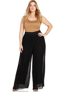 Alfani Plus Size Pleated Palazzo Pants