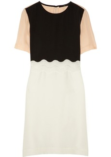 Tibi Color-block silk crepe de chine dress