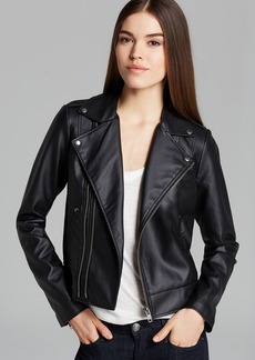 GUESS Jacket - Faux Leather Moto Crop