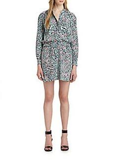 Diane von Furstenberg Deandra Printed Silk Shirtdress