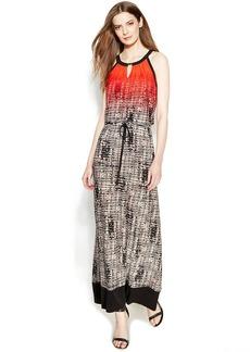 Calvin Klein Printed Ombre Maxi Dress