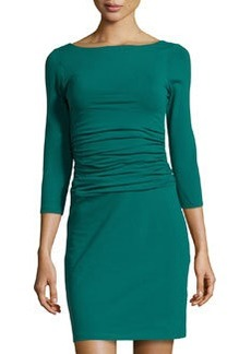 Susana Monaco Scoop-Back Ruched Jersey Dress, Como
