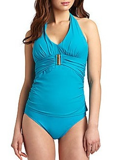 Spanx Belted Beauty Halter Tankini Top