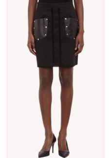 Proenza Schouler Crochet-Trimmed Pencil Skirt
