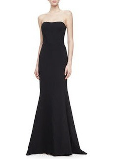 Zac Posen Strapless Mermaid Gown, Black